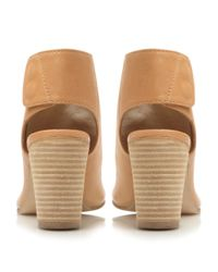 Dune - Brown Felicity Soft Leather Open Toe Ankle Boots - Lyst