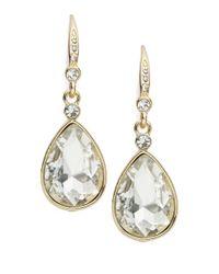 ABS By Allen Schwartz | Metallic Smoke And Mirrors Pave Teardrop Earrings | Lyst