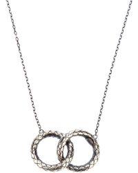 Bottega Veneta - Metallic Woven Link Necklace - Lyst