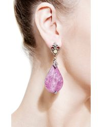 Bochic - Purple Ruby and Diamond Earrings - Lyst