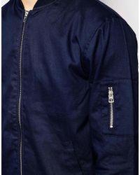 Jack & Jones | Blue Bomber Jacket for Men | Lyst
