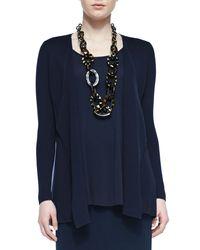 Eileen Fisher - Blue Silk Cotton Interlock Jacket - Lyst
