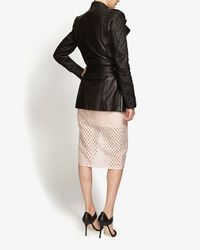 Barbara Bui - Quilted Sleeve Leather Trench: Black - Lyst