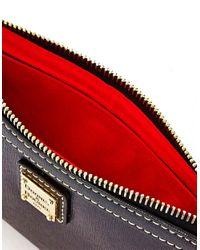 Dooney & Bourke | Black Saffiano Large Slim Leather Wristlet | Lyst
