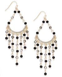 INC International Concepts | Metallic Gold-tone Beaded Fringe Drop Earrings | Lyst