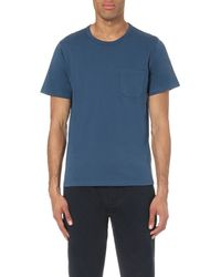 Outerknown | Blue Pescadero Crew-neck Cotton-jersey T-shirt for Men | Lyst