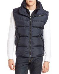 S13/nyc - Blue Zip-front Puffer Vest for Men - Lyst