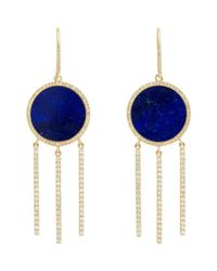 Jennifer Meyer | Metallic Disc & Fringe Drop Earrings-colorless | Lyst