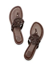 Tory Burch - Brown Miller Sandal - Lyst