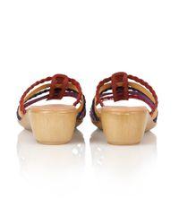 Lotus - Red Castello Open Toe Sandals - Lyst