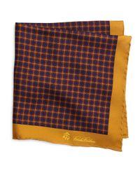Brooks Brothers - Orange Houndstooth Pocket Square for Men - Lyst