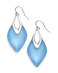 Alexis Bittar | 'lucite' Drop Earrings - Iridescent Ice Blue/ Silver | Lyst