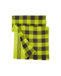 Marc By Marc Jacobs | Black Boiled Wool Plaid Scarf for Men | Lyst