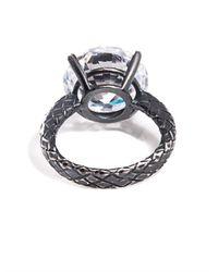 Bottega Veneta - Metallic Cubic Zirconia and Silver Ring - Lyst