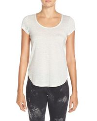 Alo Yoga | Natural 'camila' Short Sleeve Top | Lyst