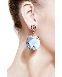 Bochic - Blue Agate and Diamond Earrings - Lyst