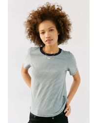 Truly Madly Deeply | Green Boyfriend Ringer Tee | Lyst