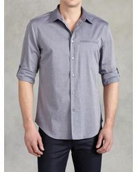 John Varvatos | Blue Adjstbl Slv Slm Ft Sht for Men | Lyst