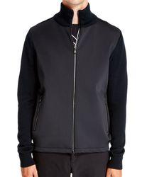 DKNY - Black Turtleneck Zip Through for Men - Lyst
