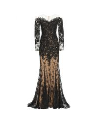Zuhair Murad - Black Lace Semi-Sheer Gown - Lyst