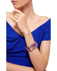 Bounkit | Purple Amethyst Cuff | Lyst