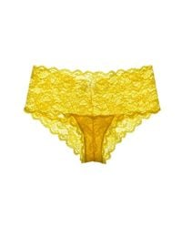 Cosabella - Yellow Never Say Never Hottie Lowrider Hotpants - Lyst