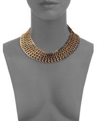 DANNIJO   Metallic Dayton Chain Necklace   Lyst