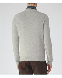 Reiss - Gray Castleford Cashmere V-neck Jumper for Men - Lyst