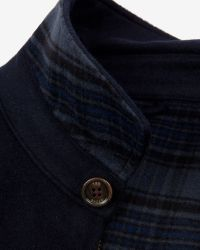 Ted Baker | Blue Drawn Wool Harrington Jacket for Men | Lyst