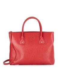 Furla | Red Josi Medium Saffiano Leather Tote | Lyst