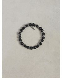 John Varvatos - Black Onyx & Silver Bracelet for Men - Lyst