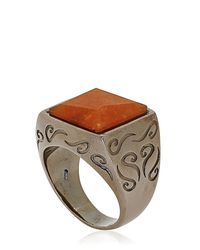 Marco Ta Moko - Orange Aventurine Ring - Lyst