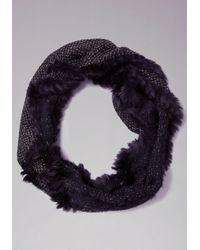 Bebe   Black Faux Fur Infinity Scarf   Lyst
