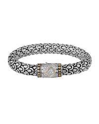 John Hardy - Metallic Naga Diamond Clasp Bracelet - Lyst