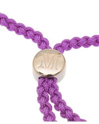 Monica Vinader | Purple Fuchsia Havana Gold-plated Friendship Bracelet | Lyst
