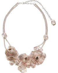 Lara Bohinc - White Roses In Bloom Necklace - Lyst