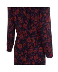 Paul Smith - Multicolor Women'S Navy 'Scribble Floral' Print Shirt-Dress - Lyst