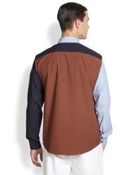 Marni | Multicolor Colorblocked Cotton Sportshirt for Men | Lyst