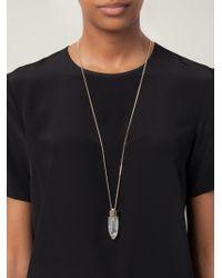 Givenchy - Metallic Quartz Pendant Necklace - Lyst