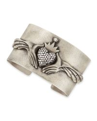 Irit Design | Metallic Modern Winged Claddagh Cuff With Diamonds | Lyst