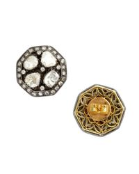 Amrapali - Metallic Natural Cut Diamond Stud Earrings - Lyst
