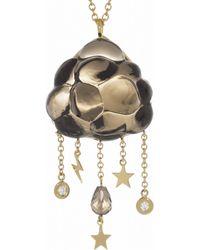 Bibi Van Der Velden - Brown Cloud 18-Karat Gold, Quartz And Diamond Necklace - Lyst