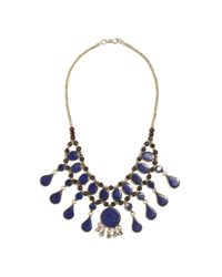 Madewell - Blue Tribal Souktrade Lapis Statement Necklace - Lyst