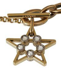 Lanvin | Metallic Gold-Tone 125 Charms Bracelet | Lyst