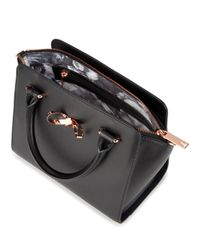 Ted Baker - Black Hollie Loop Bow Satchel - Lyst