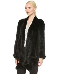 H Brand | Ashleigh Fur Coat - Black | Lyst