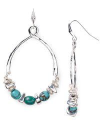 Robert Lee Morris - Blue Large Drop Bead Earrings - Lyst