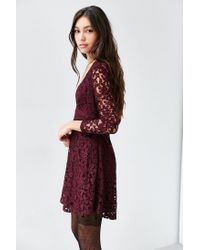 Kimchi Blue | Purple Vixen Babydoll Dress | Lyst