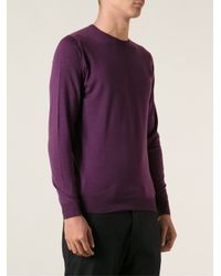 John Smedley - Purple Cleeves Sweater for Men - Lyst