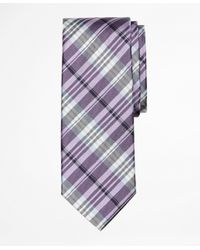 Brooks Brothers | Purple Plaid Tie for Men | Lyst
